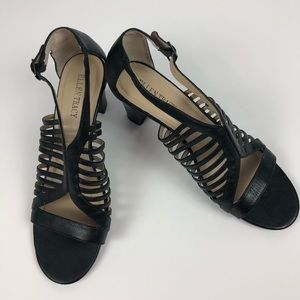 ELLEN TRACY Women's Black Sandals Size 9M Display